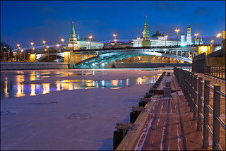 Moscow. View on Great Stone Bridge.