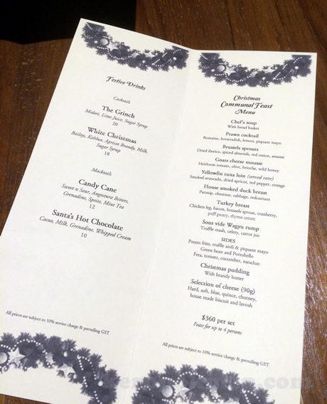 Halia @ Raffles Hotel Singapore, Communal Feasting Menu