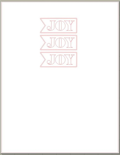 SAMPLE ONLY -free 'JOY' sentiment cut file by mel stampz