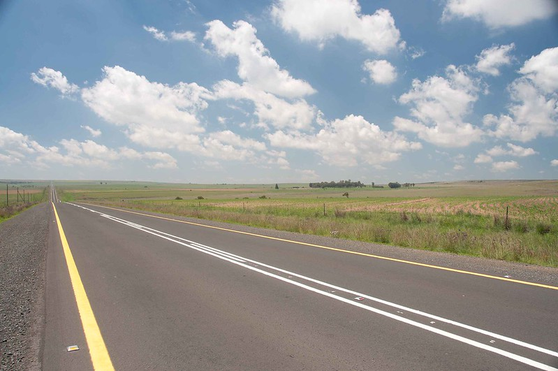 Long flat road in Free  State