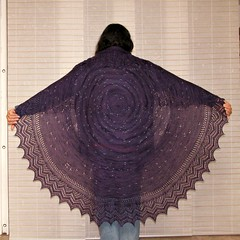The Night is Purple and Full of Stars Shawl