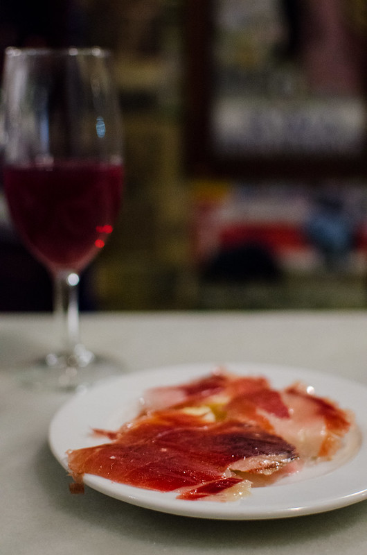 Masterfully cut Jamón ibérico is a must at Las Teresas in Sevilla, Spain.