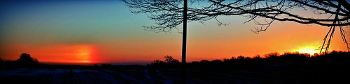 winter sunset sky cold weather silhouette clouds rural sunrise illinois country sundog winterweather