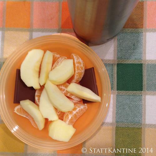 Stattkantine 04.02.14 - Apfel, Mandarine, Saft
