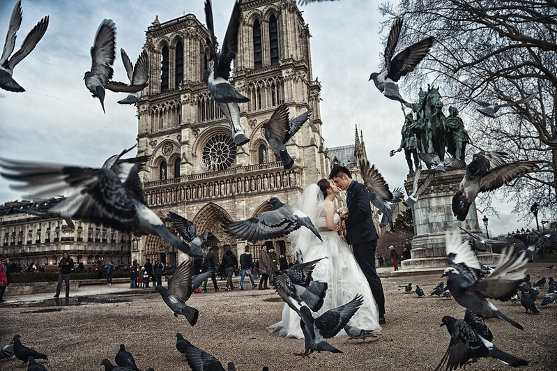 Donfer, Fine Art, 海外婚紗, Pre-Wedding, 自助婚紗, World Tour, Paris, 巴黎, 聖母院