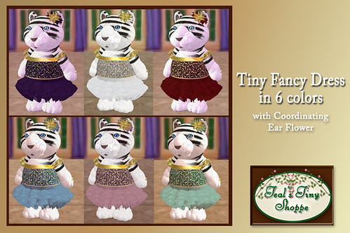Tiny Fancy Dress in 6 colors by Teal Freenote