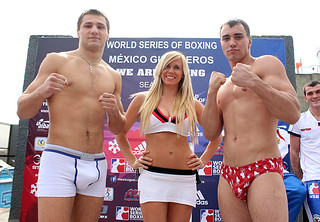 27/02/2014 WEIGH IN MEXICO GUERREROS VS  RUSSIAN BOXING TEAM
