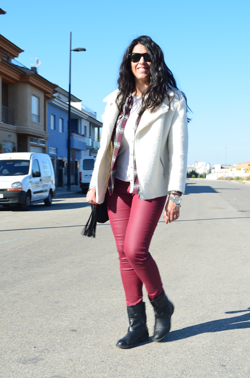 florenciablog total look burgundy inspiration burgundy look granate fieltro jacket cream jacket gandia españa bloggers (3)