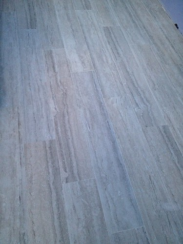 faux-wood porcelain floors