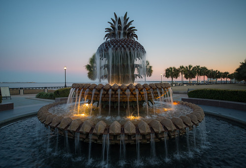 travel sunset usa zeiss nikon southcarolina charleston bluehour hospitality waterfrontpark distagon lowcountry d610 pineapplefountain thechallengefactory distagon2128zf