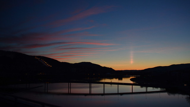 Drammen after sunset