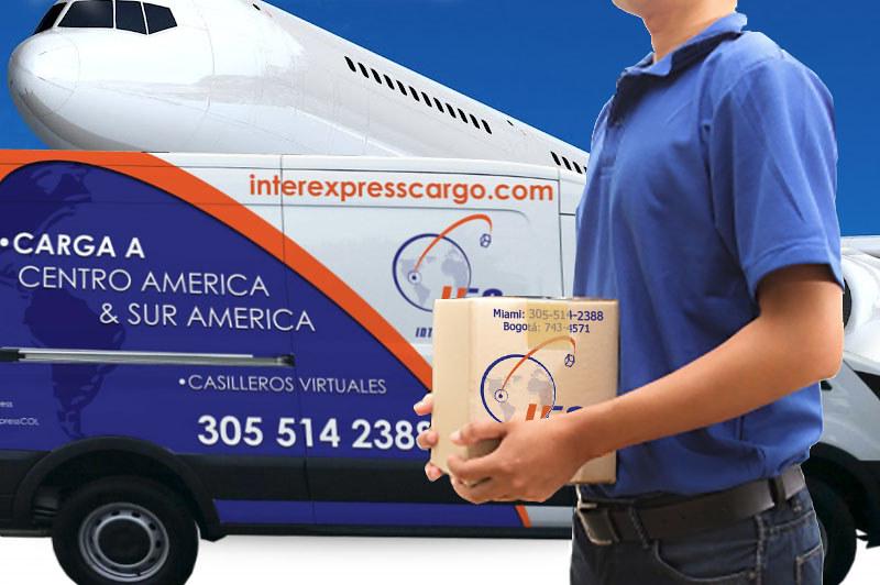 transporte o envío de carga internacional