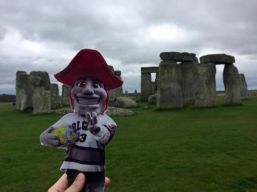 Emily Shlafmitz '18 majoring in English participating on spring 17 London English study group Stonehenge