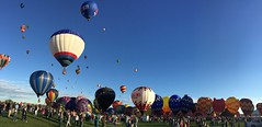 Another panoramic view of the Albuquerque Balloon Fiesta