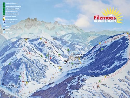 Filzmoos - mapa sjezdovek