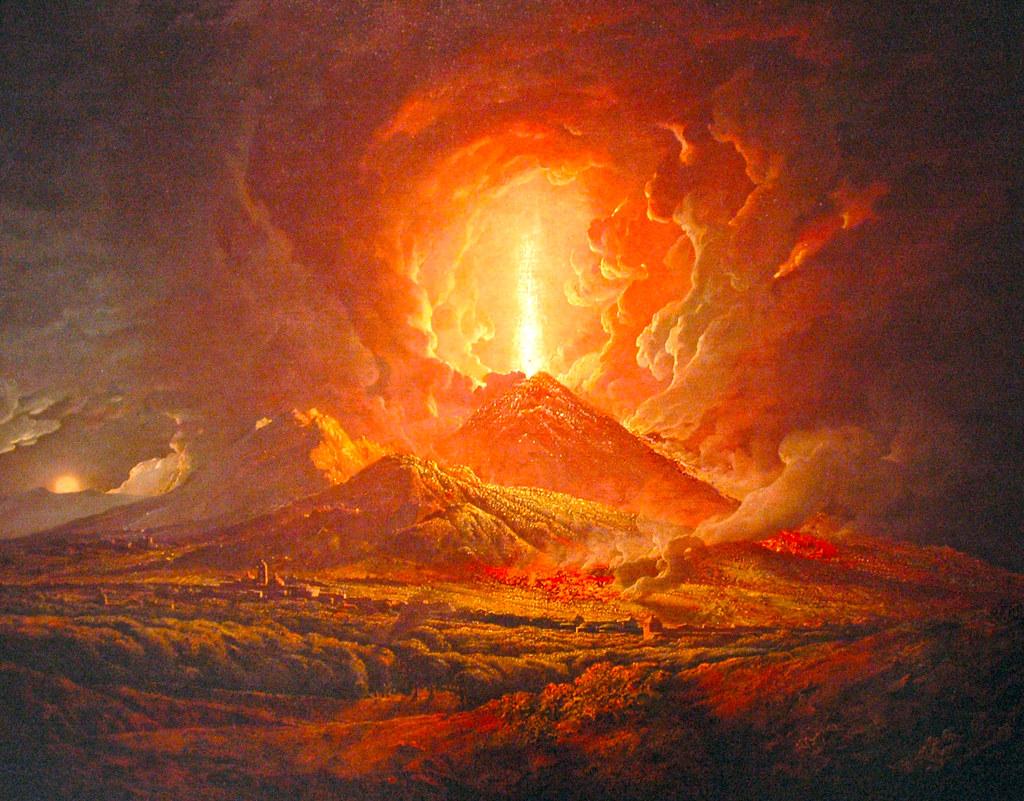 Eruption of Mount Vesuvius c1775