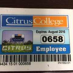 My faculty parking pass from Fall 2015-Spring 2016, expired August 2016. I have been holding onto this for a while.