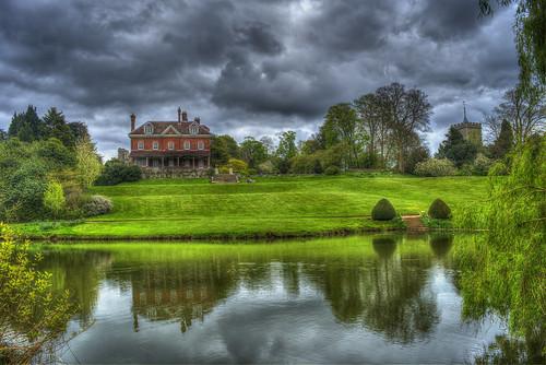house architecture landscape lake reflection reflections benington beningtonlordship hertfordshire