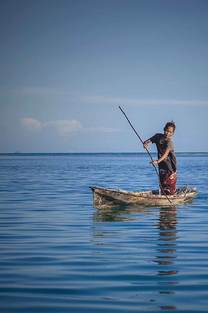 Rowing in an open ocean
