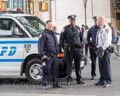 NYPD Police Officers with Patrol Van near Yankee Stadium, The Bronx, New York City