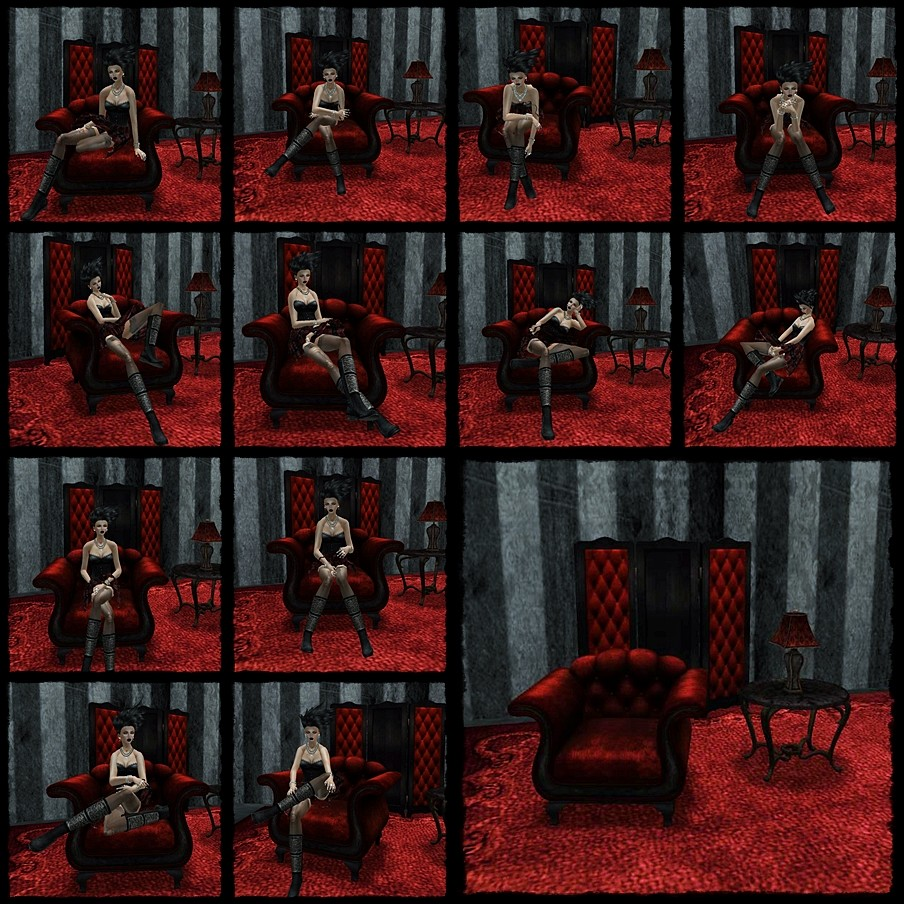 ".:SF:. ""Evendim"" Seating Set in Crimson"