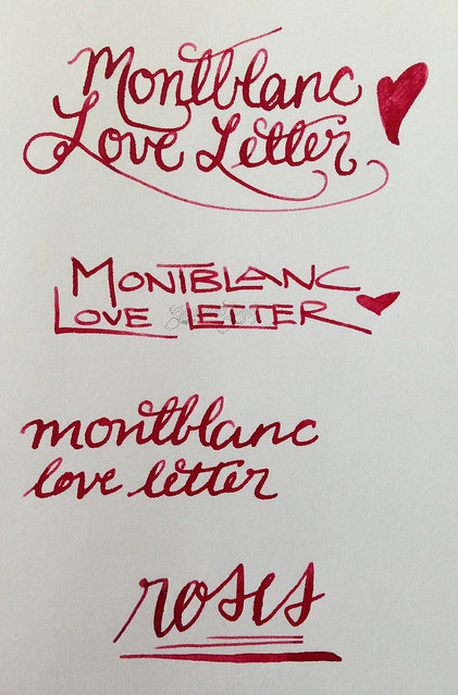 Montblanc Je T'aime Love Letter Ink Writing Samples