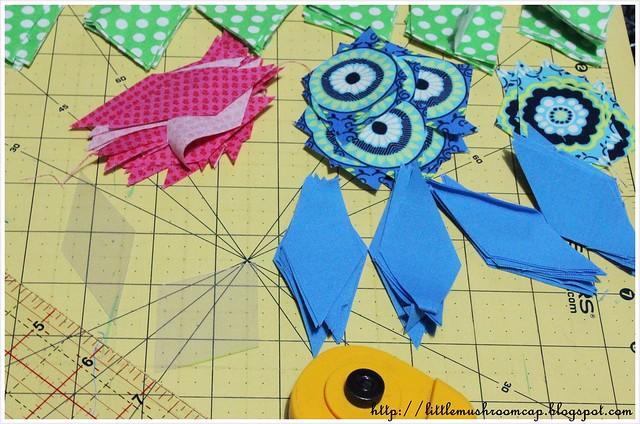 Paper Piecing - Penrose tile - block cut