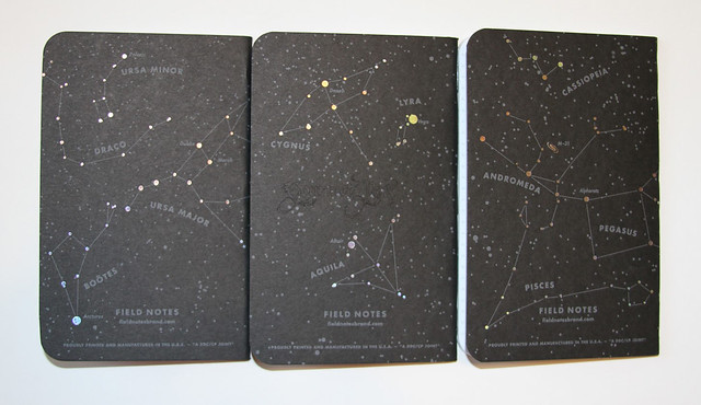 Field Notes Night Sky Back