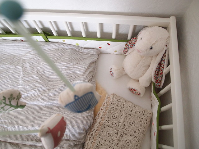 The baby's bed.