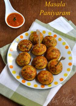 Masala Kuzhi Paniyaram Recipe