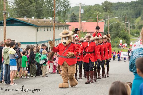 Safety Bear and the local RCMP