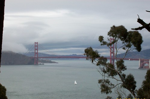 golden gate bridge with clouds