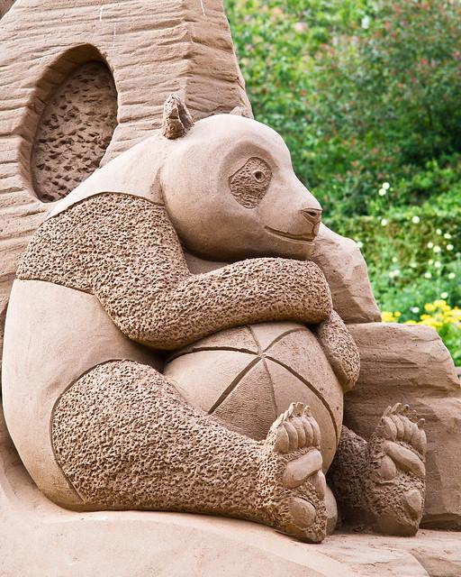 Panda Sand Sculpture.