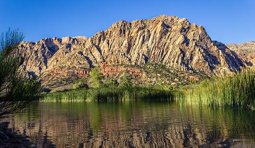 ranch las vegas mountain lake reflection sunrise canon landscape spring nevada harriet t3i 600d