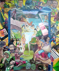 art, painting, mural, illustration, collage,