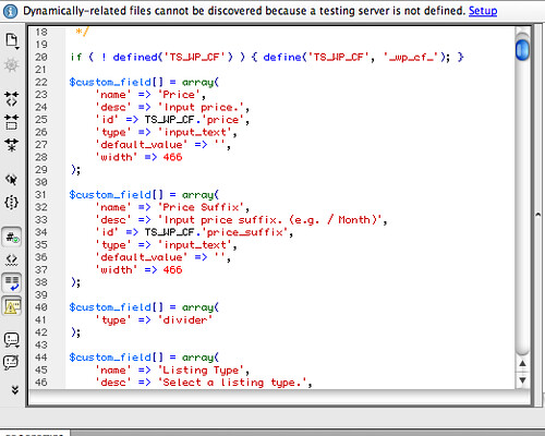 custom field code