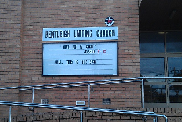 Bentleigh Uniting Church: This is the sign