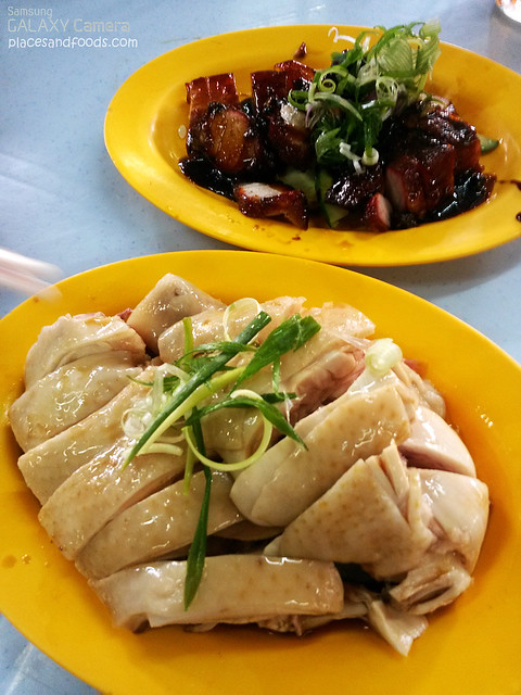 san peng chicken and char siew