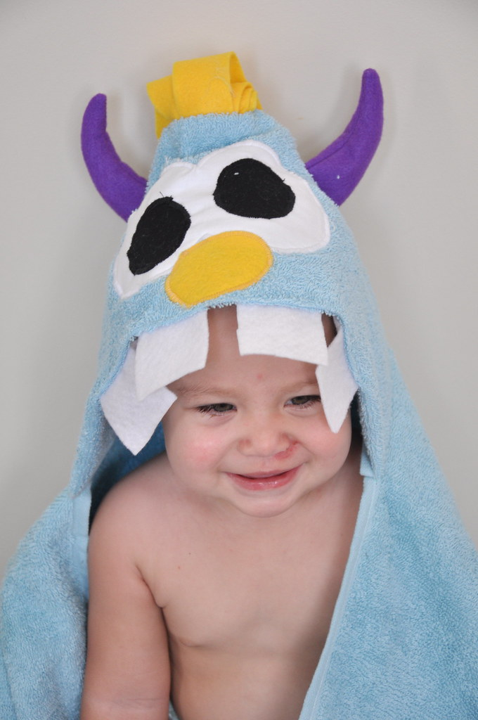 monster hooded towel kids babies baby kid present children gift christmas birthday