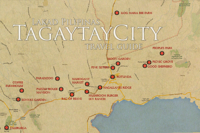 Tagaytay Tourist Spot Map