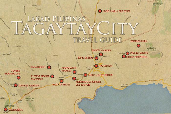 Tagaytay Tourist Spot Map