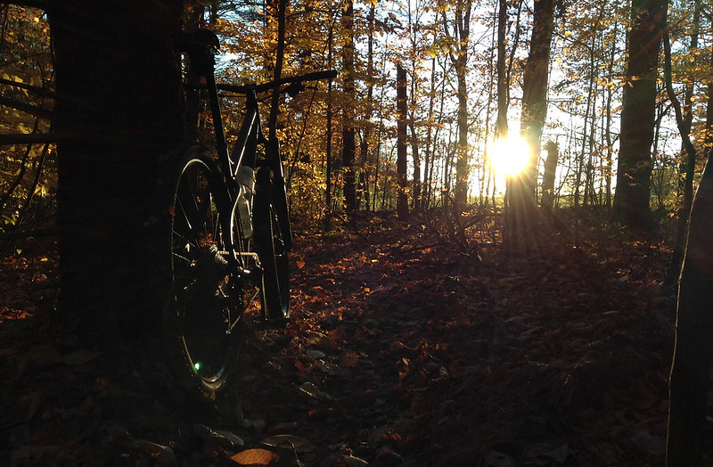 Late afternoon fall ride in NH