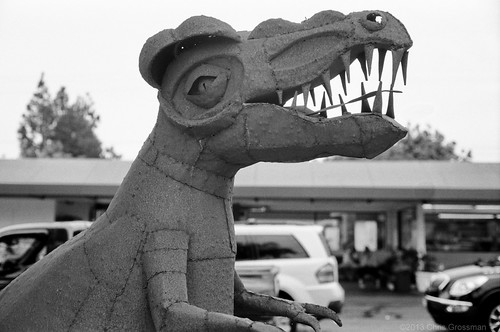 Car Wash Dinosaur - Olympus 35SP - TMAX 100