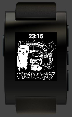 Draft Kiwicon 7 watchface