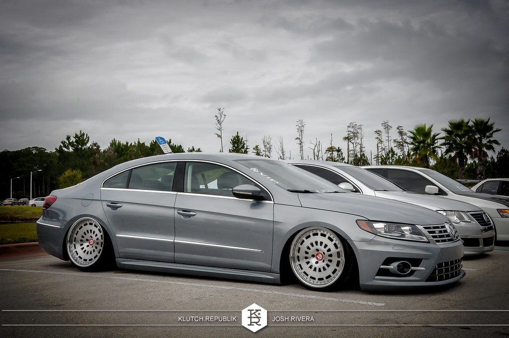 2013 volkswagen grey CC r line vip modular wheels seen at simply clean 5
