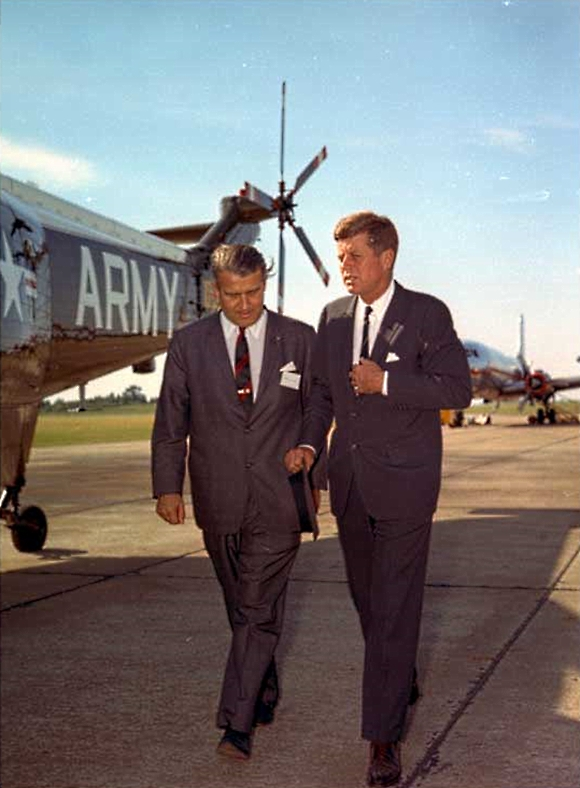John Kennedy and Werner VonBraun 1963
