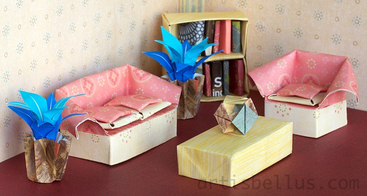 Dollhouse Living Room Dollhouse Living Room Folded By Marc Flickr