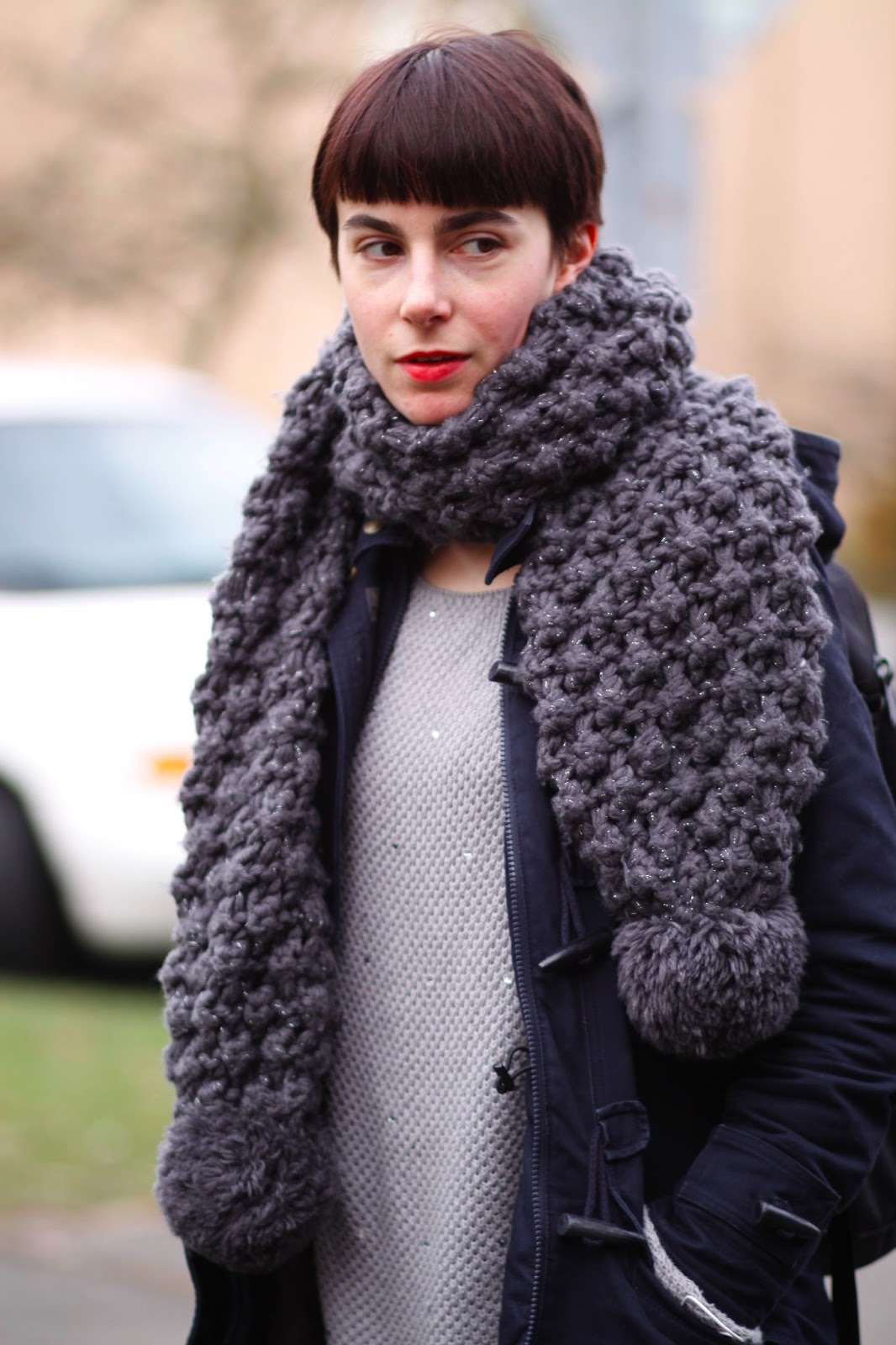 Chunky Knit Scarves How To Wear This Winters Trend