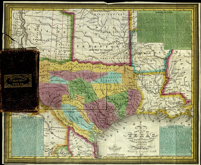 New map of Texas with the contiguous American & Mexican states, 1836