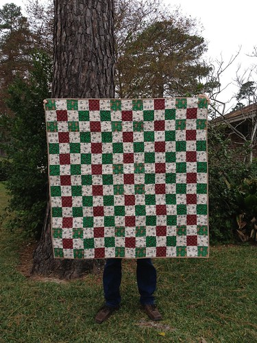 Christmas Postage Stamp Quilt